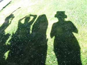 Our shadows talked with my Wife.